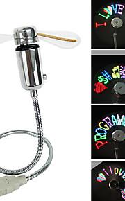 Ventilador llevado colorido programable del mensaje del usb de la venta caliente ruishengda®summer