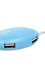 Shu017 hub usb2.0 4 puertos 480 mbps de alta velocidad con el cable del 0.6m