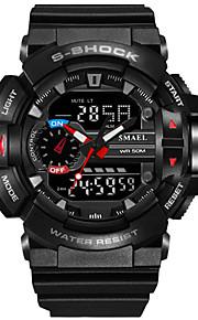 SMAEL Homens Digital Relogio digital Relógio Militar Relógio Esportivo Japanês Calendário Cronógrafo Impermeável Mostrador Grande