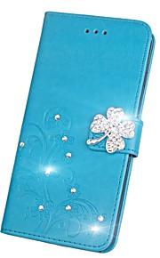 Custodia Per Huawei Honor V9 Honor 7X Con diamantini Con chiusura magnetica Decorazioni in rilievo Integrale Fiori Mandala Farfalla