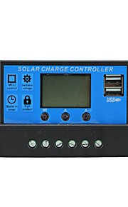 Solar Control Charger 10A with Dual USB Output 5V Mobile Charger 12/24V Solar Panel Battery Charge Regulator 10 Amps Y-SOLAR