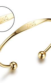 Stainless steel bracelet European and American retro stainless steel electroplated bracelet ladies