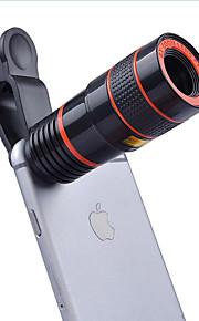 8x lentes de telescópio focais longas lentes de câmera do smartphone lente de olho de peixe de grande angular de 0,63x 15x para iphone