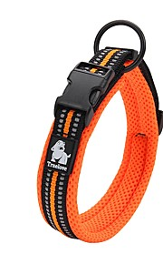 Hond Kraag Anti-slip Reflecterend Ademend Veiligheid Verstelbaar Effen Polyesteri Net Nylon Zwart Oranje Geel Fuchsia Blauw