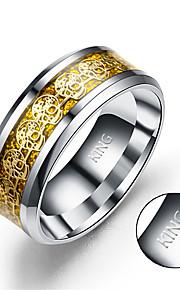 Spersonalizowane Prezent-Rings--Stal tytanowa--