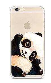 Etui Til Apple iPhone 7 Plus iPhone 7 Ultratyndt Gennemsigtig Mønster Bagcover Panda Dyr Blødt TPU for iPhone 7 Plus iPhone 7 iPhone 6s