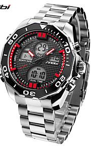 SINOBI Homens Relógio Esportivo Relógio Militar Relógio Casual Japanês Digital LED Calendário Dois Fusos Horários alarme Cronômetro