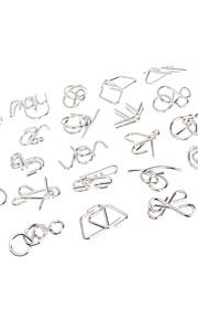 Serie på ni - legetøj Kinesisk puslespilsring Bæltespænde med kortholder Legetøj Unlatching Intellectual Metallegering Metal Pige Drenge