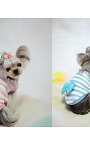 Hond Gilet Hondenkleding Casual/Dagelijks Strik Blauw Roze Kostuum Voor huisdieren