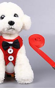 Kat Hond harnassen Ademend Vouwbaar Effen Textiel Binnenwerk Zwart Rood