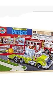 Quebra-Cabeça Quebra-Cabeças de Madeira Carros de Brinquedo Trem Caminhão de Bombeiro Brinquedos Dinossauro Cauda Caminhão Não