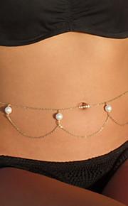 Dame Kropssmykker Mavekæde Mode Legering Smykker Til Strand Bikini