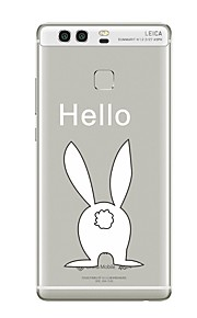 Custodia Per Transparente Fantasia/disegno Custodia posteriore Transparente Animali Cartoni animati Morbido TPU per Huawei P10 Plus
