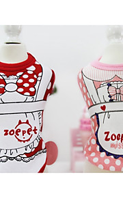 Cane Felpa Abbigliamento per cani Casual Cartoni animati Giallo Rosso Blu Rosa