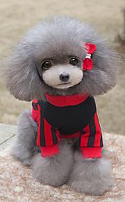 Cane Felpa Abbigliamento per cani Casual Lettere & Numeri Giallo Rosso
