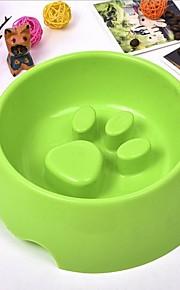L ネコ 犬 餌入れ/水入れ ペット用 ボウル&摂食 耐久 Brown グリーン ブルー ピンク
