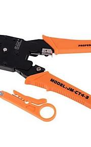 4p 6 p 8p red de crimpado red de cables de red de teléfono de ethernet conjunto de herramientas de reparación de alicates y cortador de