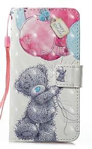 hoesje Voor Apple iPhone X iPhone 8 Kaarthouder Portemonnee met standaard Volledig hoesje dier Hard PU-nahka voor iPhone 8 Plus iPhone 8