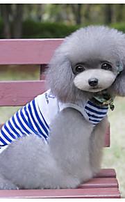 Cane Gilè Abbigliamento per cani Casual Marinaro Rosso Blu