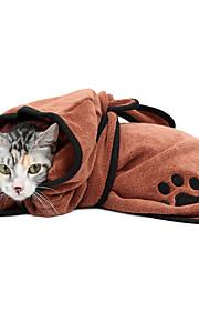 Katze Pyjamas Hundekleidung Lässig/Alltäglich Wandelbare Kleider Warm-Ups Solide Braun Blau Kostüm Für Haustiere