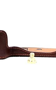Dengpin meia capa de couro capa capa base de capa para cano eos 200d (cores sortidas)