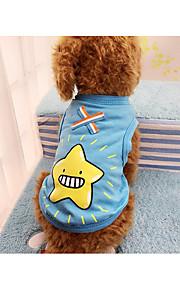 Hond Gilet Hondenkleding Cartoon Oranje Rood Groen Blauw Katoen Kostuum Voor huisdieren Heren Dames Casual/Dagelijks