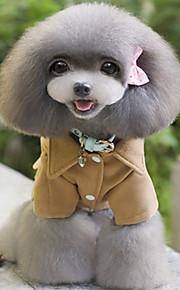 Koira Takit Koiran vaatteet Rento/arki Englantilainen Musta Harmaa Kahvi
