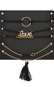 Dame Kropssmykker Benkæde Enkelt design Kærlighed Personaliseret Hypoallergenisk Sød Stil Håndlavet minimalistisk stil Klassisk Sexet