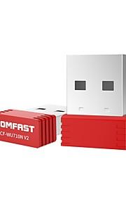 comfast cf-wu710n v2 mini usb inalámbrico lan adaptador 150mbps 2.4g de escritorio red tarjeta pc receptor