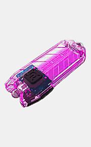 T Series Nyckelringsficklampor LED 45 LM 2 Läge Nyckelknippa Vattenavvisande Dammsäker Slitsäker för Camping/Vandring/Grottkrypning Ja
