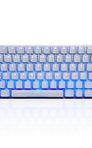ajazz-ak33 ijsversie van het toetsenbord spel usb monochromatische achtergrondverlichting 108