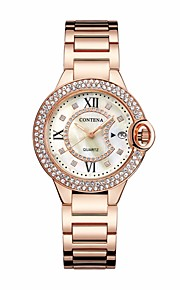 Women's Casual Watch Chinese Quartz Chronograph Stainless Steel Band Casual Elegant Christmas Silver Gold Rose Gold