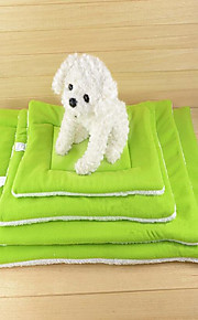 Cat Dog Bed Gasket Pet Blankets Solid Keep Warm Portable Double-Sided Blue Green Coffee Orange