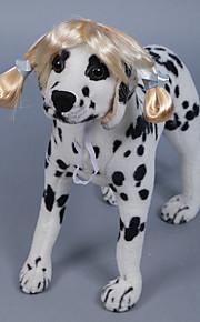 כלב פאה בגדים לכלבים אחר חומר לכל העונות מסוגנן מפופס זהב שחור חום עבור חיות מחמד