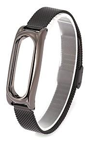 Aço Inoxidável Pulseiras de Relógio Alça Preta 24cm / 9 polegadas 1.4cm / 0.55 Polegadas