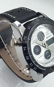 Homens Relogio digital Chinês Digital Calendário Dois Fusos Horários Cronômetro Noctilucente Relógio Casual Fase da lua Mostrador Grande