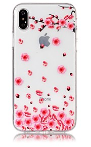 Custodia Per Apple iPhone X iPhone 8 Ultra sottile Transparente Decorazioni in rilievo Fantasia/disegno Custodia posteriore Fiore