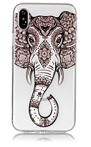 Custodia Per Apple iPhone X iPhone 8 Ultra sottile Transparente Decorazioni in rilievo Fantasia/disegno Custodia posteriore Elefante