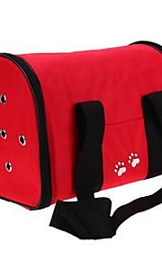 Gato Cachorro mochila Bolsa Strap Animais de Estimação Transportadores Caminhada Prova-de-Água Portátil Dobrável Flexível Sólido Pegada /
