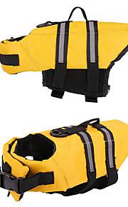 Cachorro Colete Salva-Vidas Roupas para Cães Espuma EPE Tecido Oxford Primavera/Outono Verão Casual / desportivo Sólido Amarelo Azul Rosa