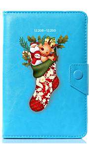 la Navidad universal diseña la caja de la cubierta del soporte de cuero de la PU para 7 pulgadas 8 pulgadas 9 pulgadas tableta de la