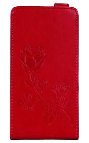 Etui Til Huawei Redmi Note 4 Redmi 4X Pung Kortholder Med stativ Flip Magnetisk Præget Mønster Heldækkende Blomst Hårdt Kunstlæder for