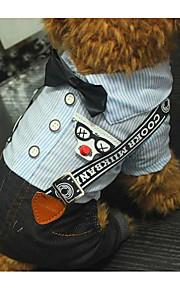 Hund Overall Hundekleidung Lässig/Alltäglich Streifen Blau Kostüm Für Haustiere