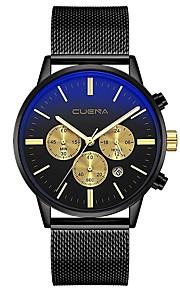 Homens Relógio Casual Relógio Elegante Único Criativo relógio Chinês Quartzo Calendário Cronógrafo Impermeável Noctilucente Aço Inoxidável
