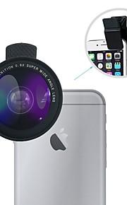 Lente grande angular lingwei universal 0.6x lente grande angular / lente macro 12x com clipes para iphone