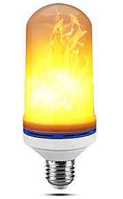 1pc e27 5w ledet flamme lamper 99led flimrende emulering brandlys dekorative lampe ac85-265v