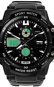 Homens Crianças Relógio de Moda Relógio Casual Relógio Esportivo Japanês Digital Calendário Impermeável Cronômetro Noctilucente Dois