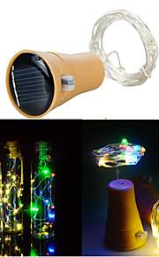 10led solstreng vinflaske stopper kobber fairy strip wire utendørs fest dekorasjon