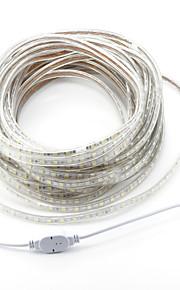 20m 1200SMD LED Blanc Chaud / Blanc / Rouge Découpable / Imperméable 220 V / 5050 SMD