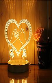 1 sæt 3d stemning natt lys hånd følelse dæmpbar usb powered gave lampe pull hook